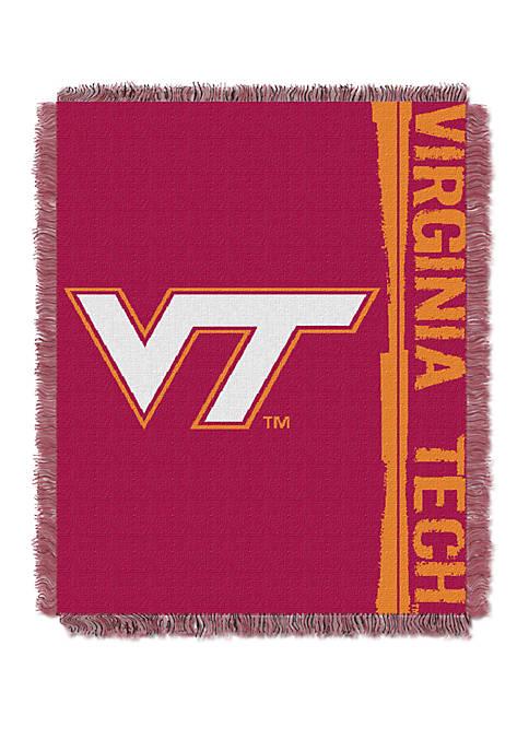 NCAA Virginia Tech Hokies Double Play Jacquard Woven Throw