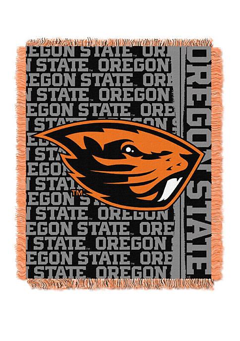 NCAA Oregon State Beavers Double Play Jacquard Woven Throw
