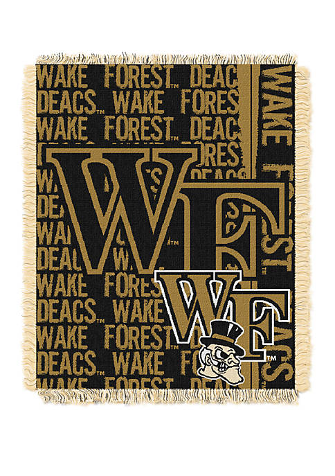NCAA Wake Forest Demon Deacons Double Play Jacquard Woven Throw