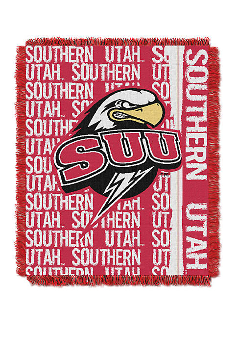 NCAA Southern Utah Thunderbirds Double Play Jacquard Woven Throw