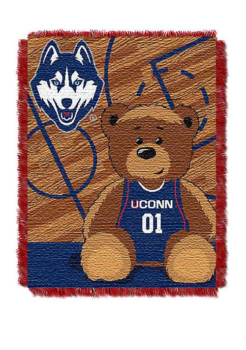 NCAA Uconn Huskies Baby Fullback Woven Jacquard Throw