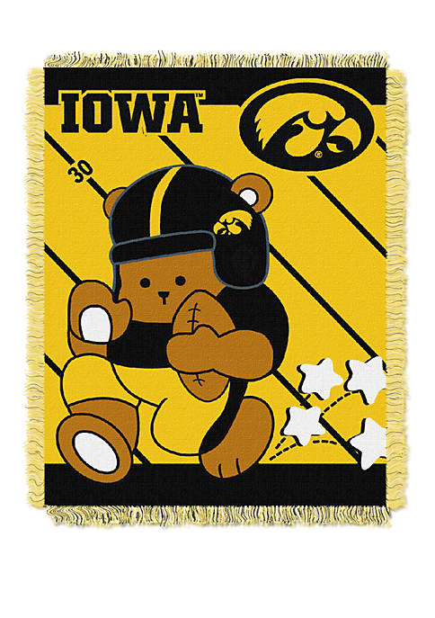 NCAA Iowa Hawkeyes Baby Fullback Woven Jacquard Throw