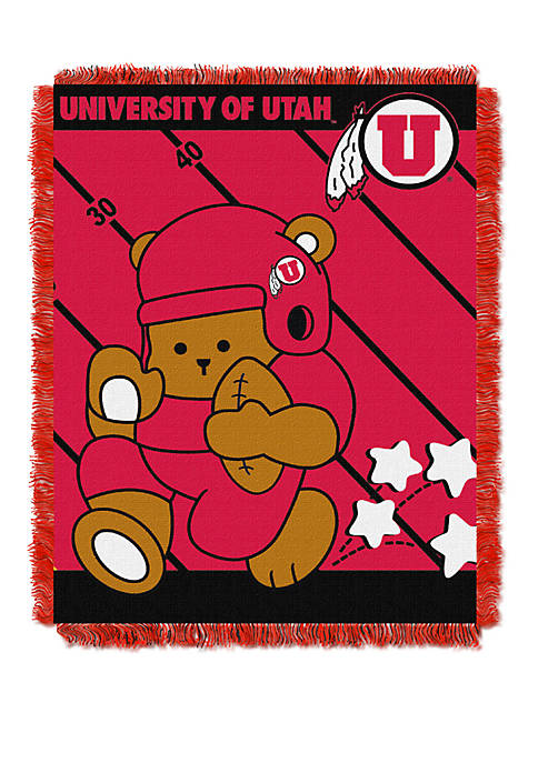 NCAA Utah Utes Baby Fullback Woven Jacquard Throw
