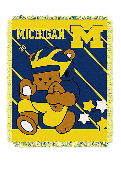 NCAA Michigan Wolverines Baby Fullback Woven Jacquard Throw