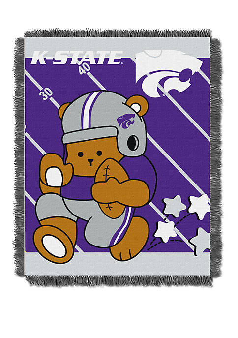 NCAA Kansas State Wildcats Baby Fullback Woven Jacquard Throw