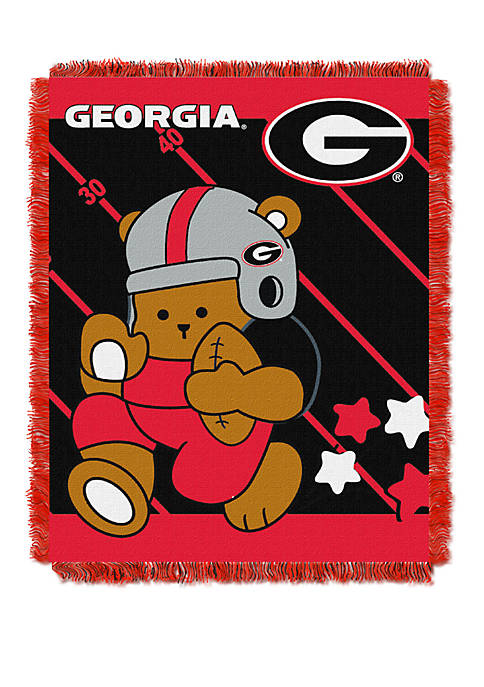 NCAA Georgia Bulldogs Baby Fullback Woven Jacquard Throw