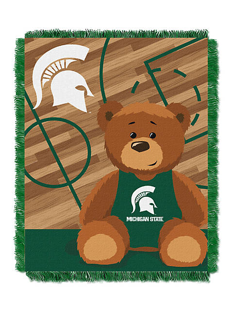 NCAA Michigan State Spartans Baby Fullback Woven Jacquard Throw