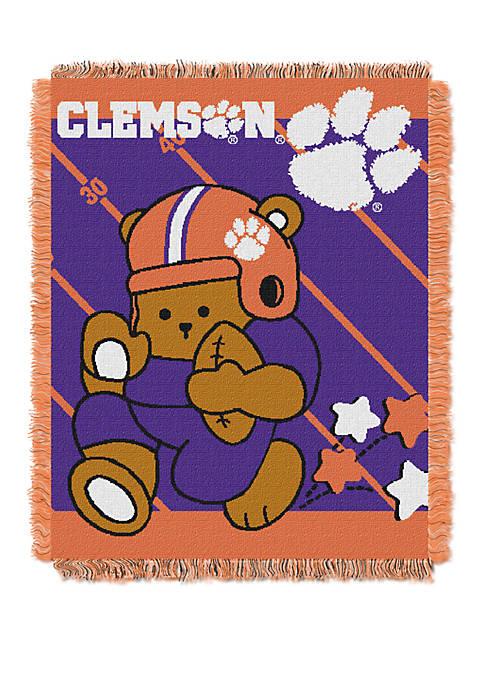 NCAA Clemson Tigers Baby Fullback Woven Jacquard Throw