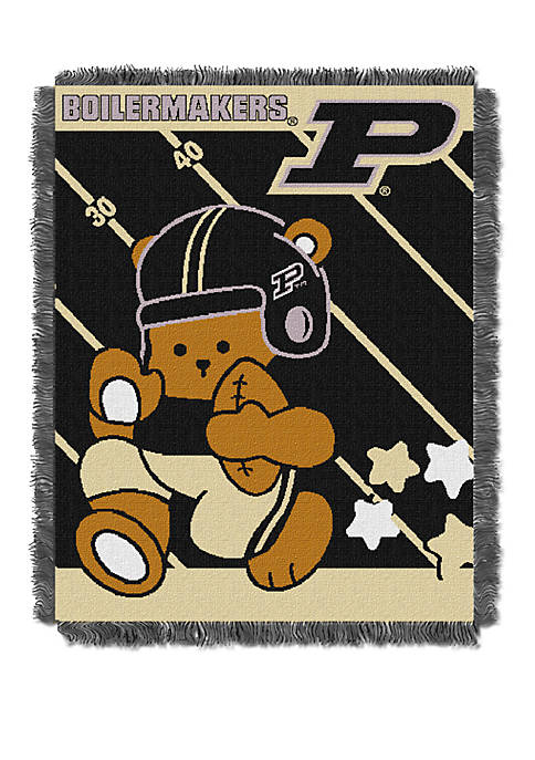 NCAA Purdue Boilermakers Baby Fullback Woven Jacquard Throw