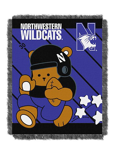 NCAA Northwestern Wildcats Baby Fullback Woven Jacquard Throw