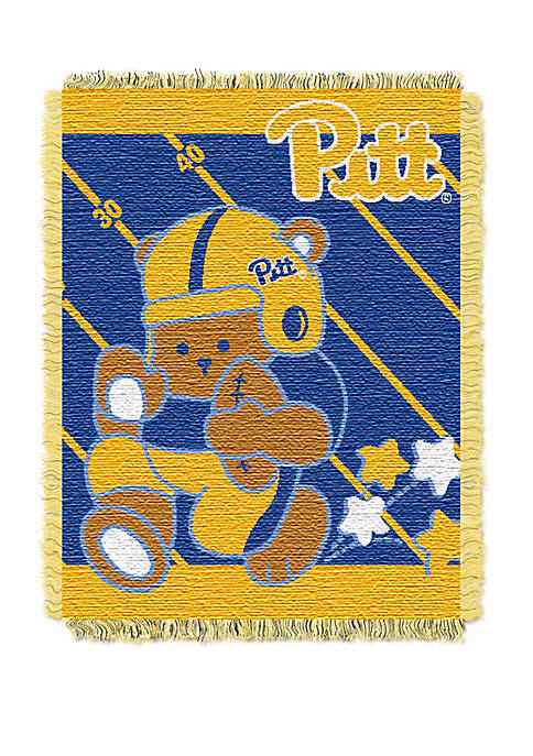 NCAA Pittsburgh Panthers Baby Fullback Woven Jacquard Throw