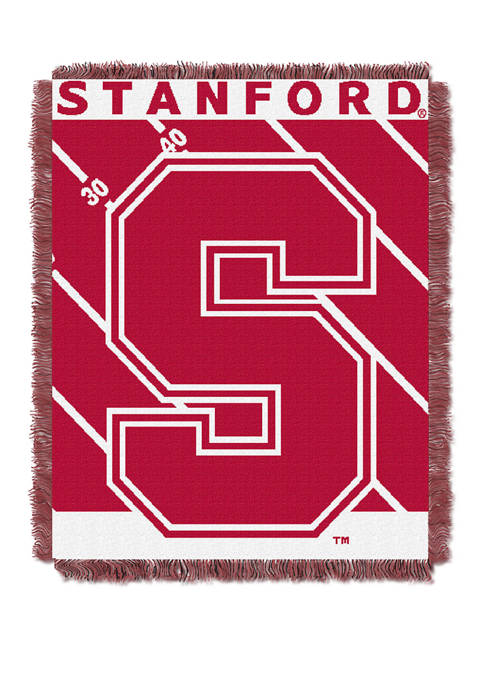 NCAA Stanford Cardinals Baby Half Court Woven Jacquard Throw