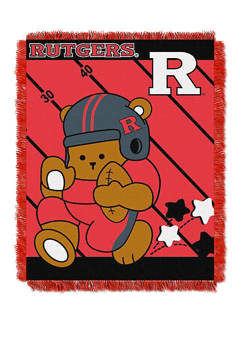 NCAA Rutgers Scarlet Knights Baby Fullback Woven Jacquard Throw