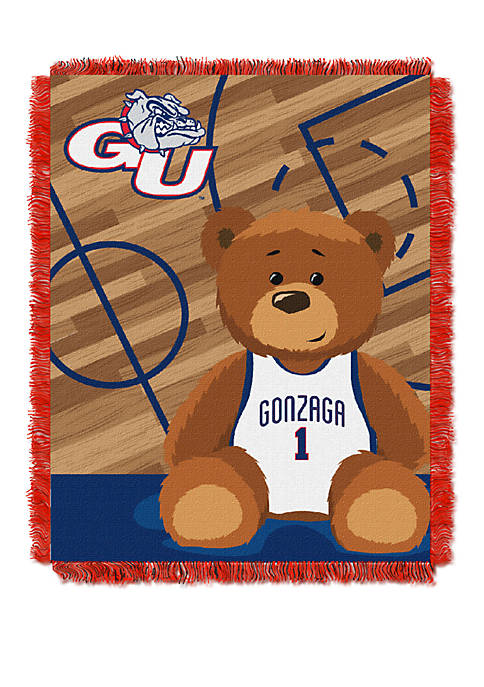 NCAA Gonzaga University Bulldogs Baby Fullback Woven Jacquard Throw