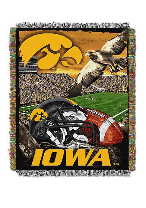 NCAA Iowa Hawkeyes Home Field Advantage Tapestry Blanket