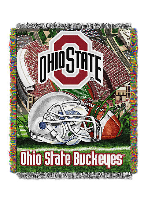 NCAA Ohio State Buckeyes Home Field Advantage Tapestry Blanket