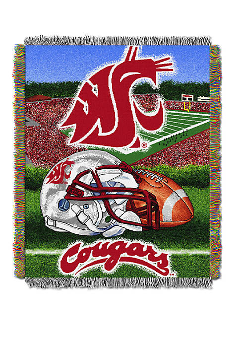 NCAA Washington State Cougars Home Field Advantage Tapestry Blanket
