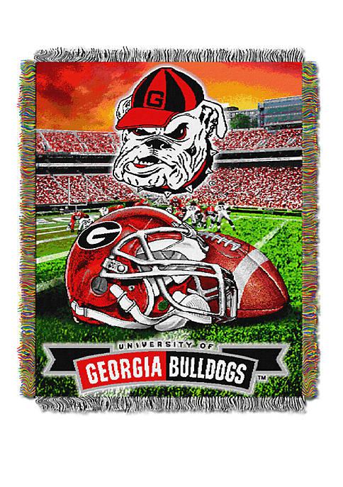 NCAA Georgia Bulldogs Home Field Advantage Tapestry Blanket