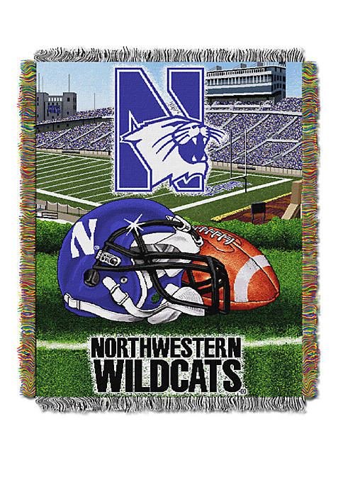 NCAA Northwestern Wildcats Home Field Advantage Tapestry