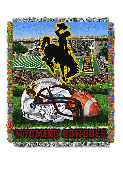 NCAA Wyoming Cowboys Home Field Advantage Tapestry Blanket