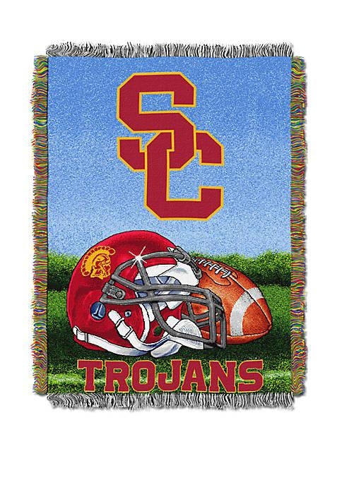 NCAA USC Trojans Home Field Advantage Tapestry Blanket