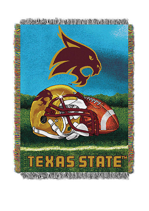 NCAA Texas State Bobcats Home Field Advantage Tapestry Blanket
