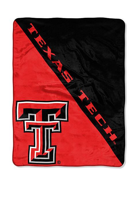 NCAA Texas Tech Red Raiders Halftone Micro Raschel Throw