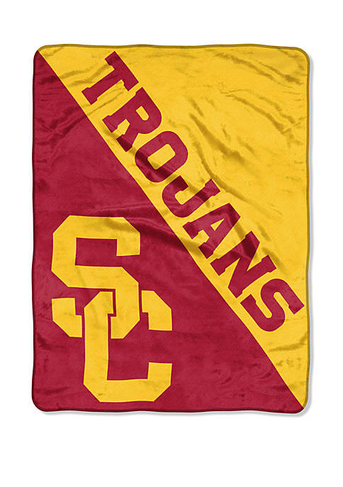 NCAA USC Trojans Halftone Micro Raschel Throw