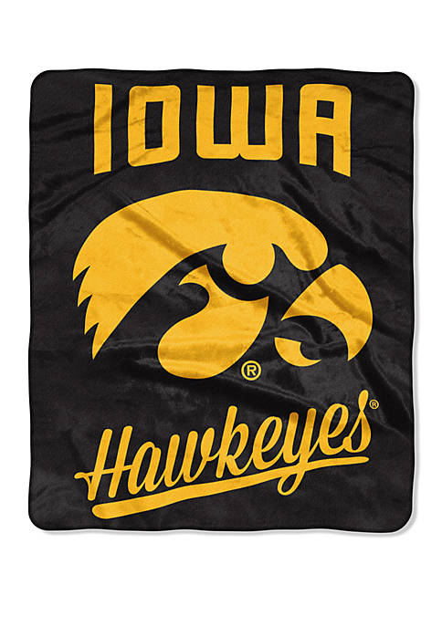 NCAA Iowa Hawkeyes Alumni Raschel Throw