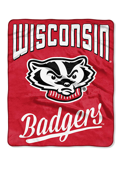 NCAA Wisconsin Badgers Alumni Raschel Throw