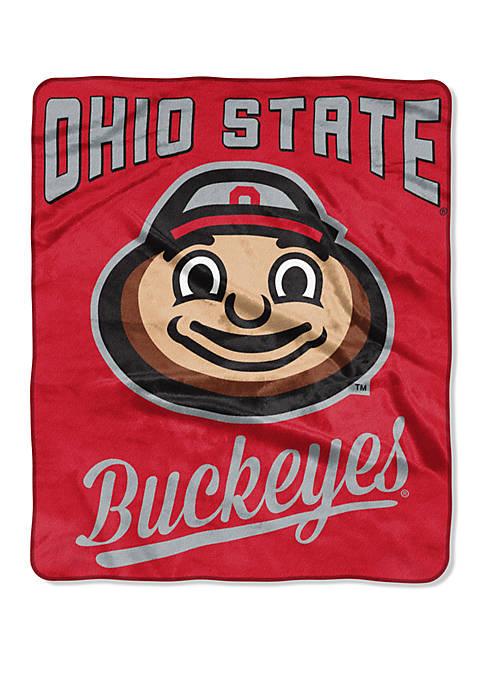 NCAA Ohio State Buckeyes Alumni Raschel Throw