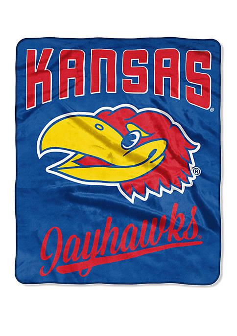 NCAA Kansas Jayhawks Alumni Raschel Throw