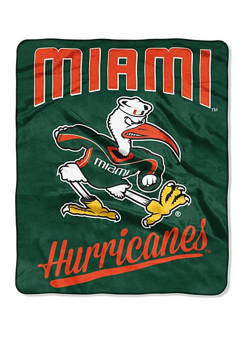 NCAA Miami Hurricanes Alumni Raschel Throw