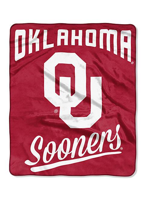 NCAA Oklahoma Sooners Alumni Raschel Throw