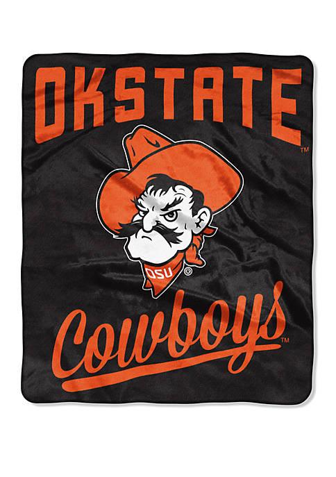 NCAA Oklahoma State Cowboys Alumni Raschel Throw