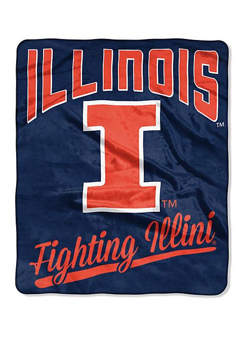 NCAA Illinois Fighting Illini Alumni Raschel Throw