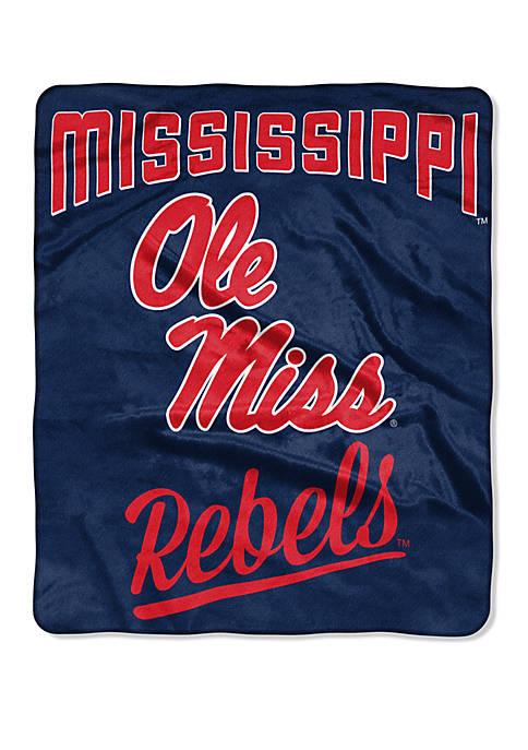 NCAA Ole Miss Rebels Alumni Raschel Throw
