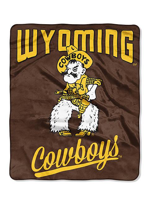 NCAA Wyoming Cowboys Alumni Raschel Throw