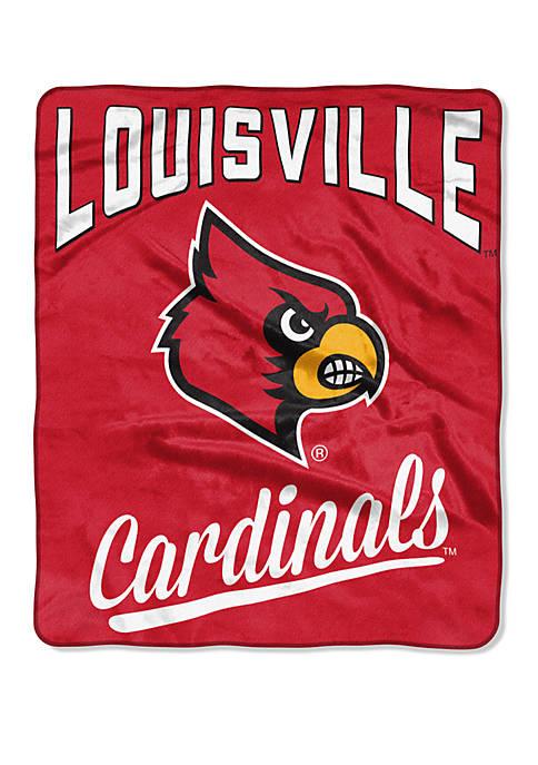 NCAA Louisville Cardinals Alumni Raschel Throw