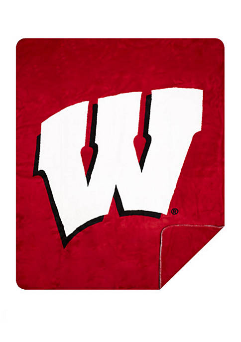 NCAA Wisconsin Badgers Sliver Knit Throw