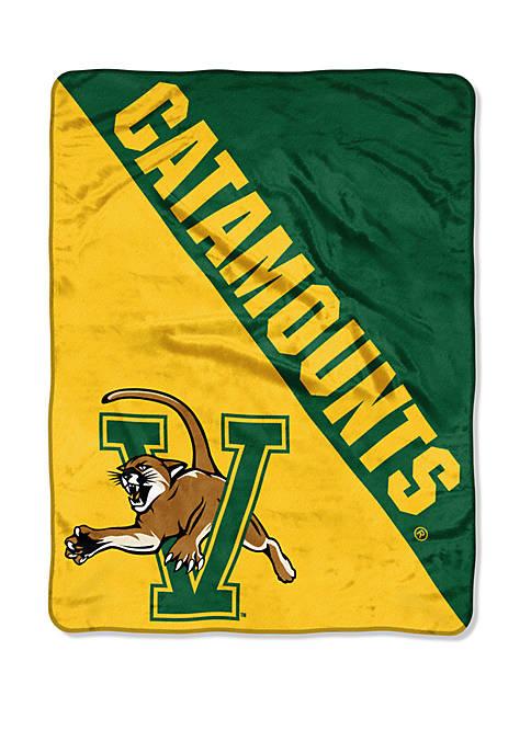 NCAA Vermont Catamounts Halftone Micro Raschel Throw