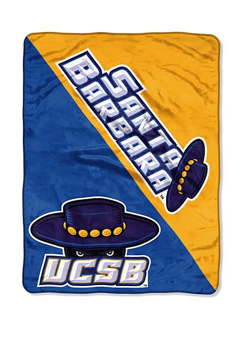 NCAA Santa Barbara Gauchos Halftone Micro Raschel Throw