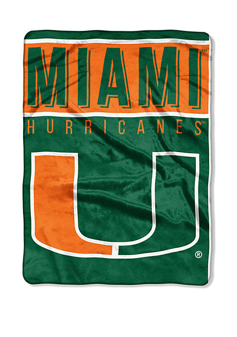 NCAA Miami Hurricanes Basic Raschel Throw
