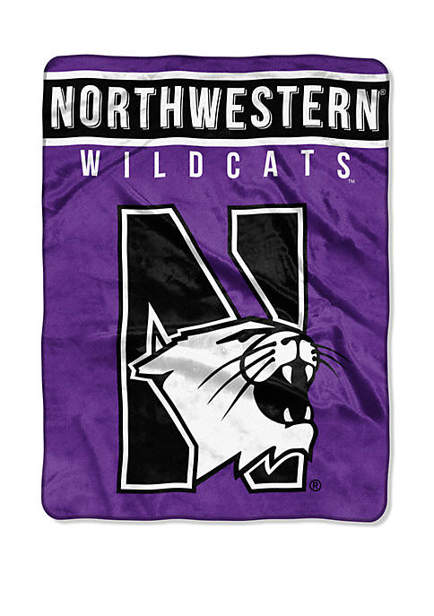 NCAA Northwestern Wildcats Basic Raschel Throw