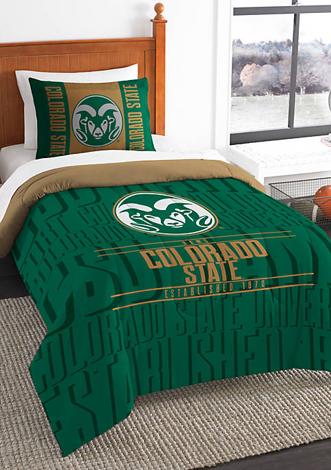 NCAA Colorado State Rams Modern Take Twin Comforter Set