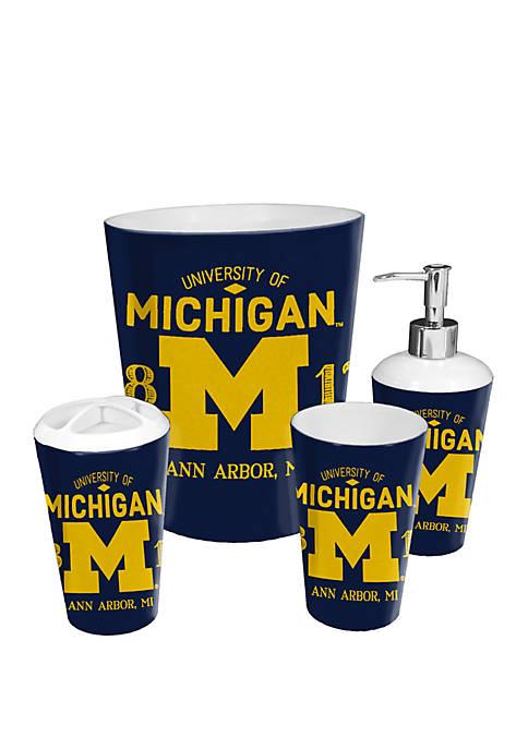 NCAA Michigan Wolverines 4 Piece Bath Set