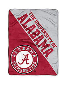 Alabama Crimson Tide Micro Plush Raschel 46 x 60 Throw
