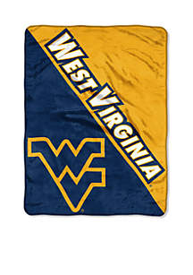 WVU Micro Raschel Throw