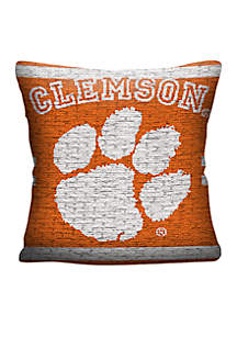 Clemson Tigers Jacquard Pillow