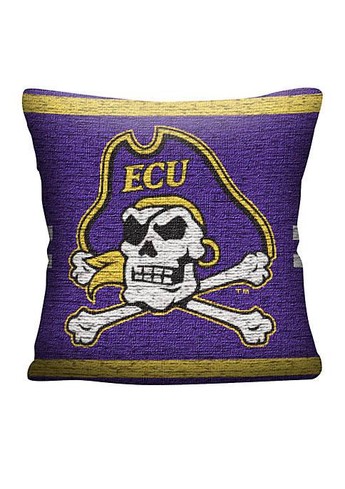 East Carolina Pirates Jacquard Pillow